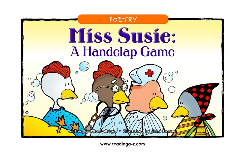 Book Preview For Miss Susie: A Handclap Game Page 1