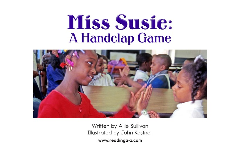 Book Preview For Miss Susie: A Handclap Game Page 2