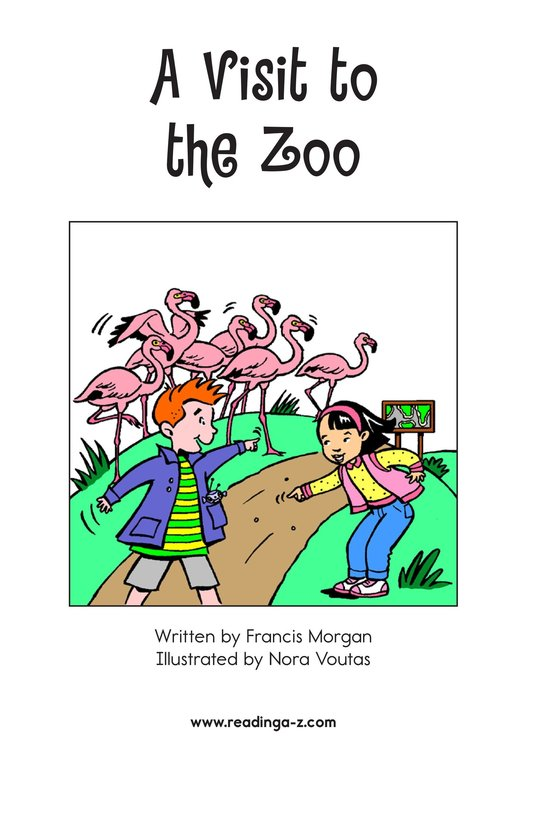 Book Preview For A Visit to the Zoo Page 2