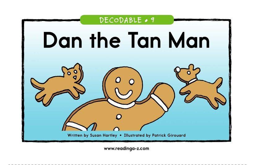 Book Preview For Dan the Tan Man Page 1