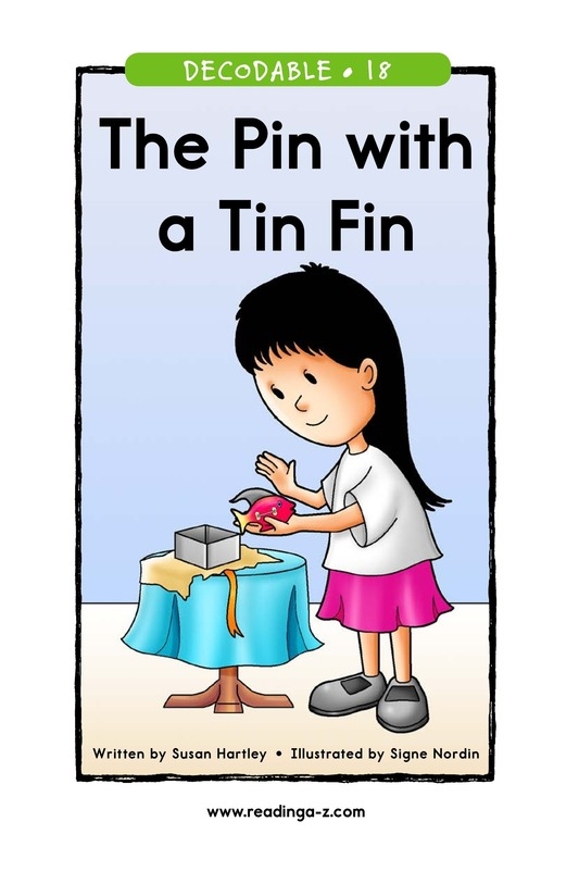 Book Preview For The Pin with a Tin Fin Page 1