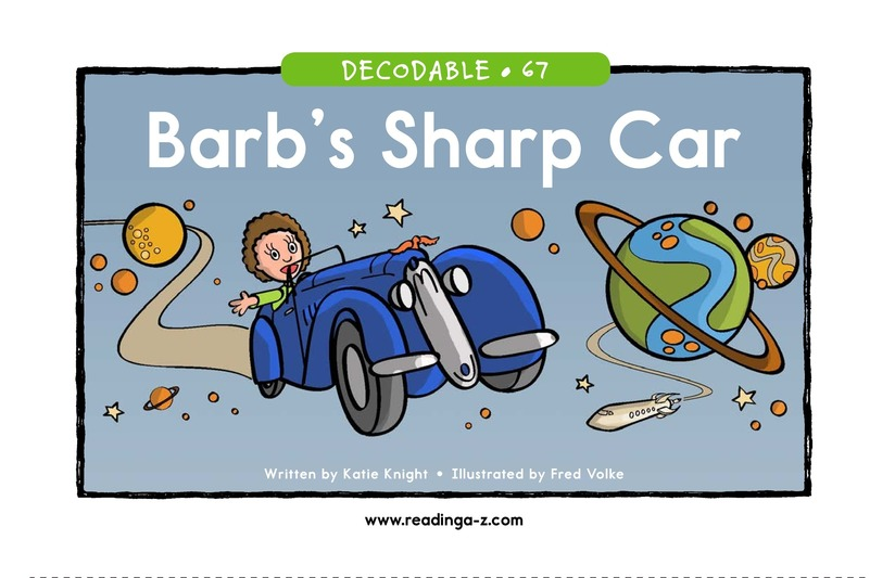 Book Preview For Barb's Sharp Car Page 1