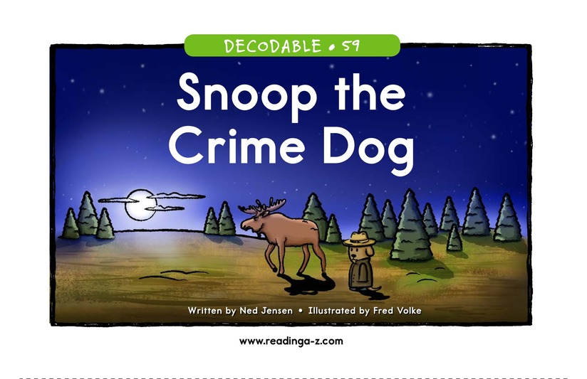 Book Preview For Snoop the Crime Dog Page 1