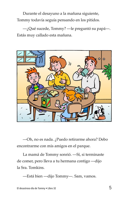 Book Preview For Tommy's Disastrous Day Page 5