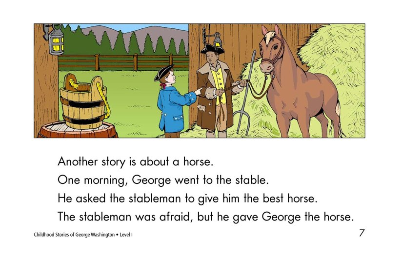Book Preview For Childhood Stories of George Washington Page 7