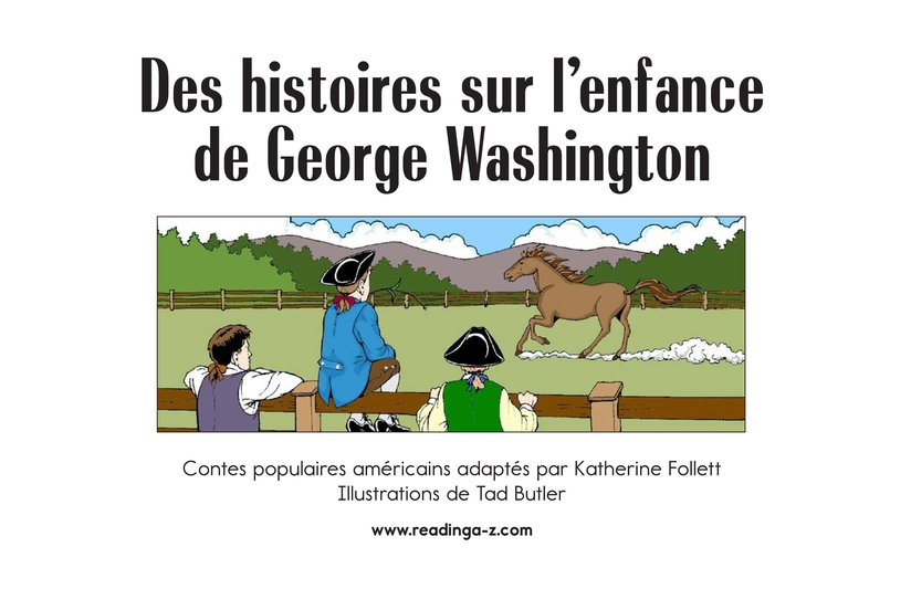 Book Preview For Childhood Stories of George Washington Page 2