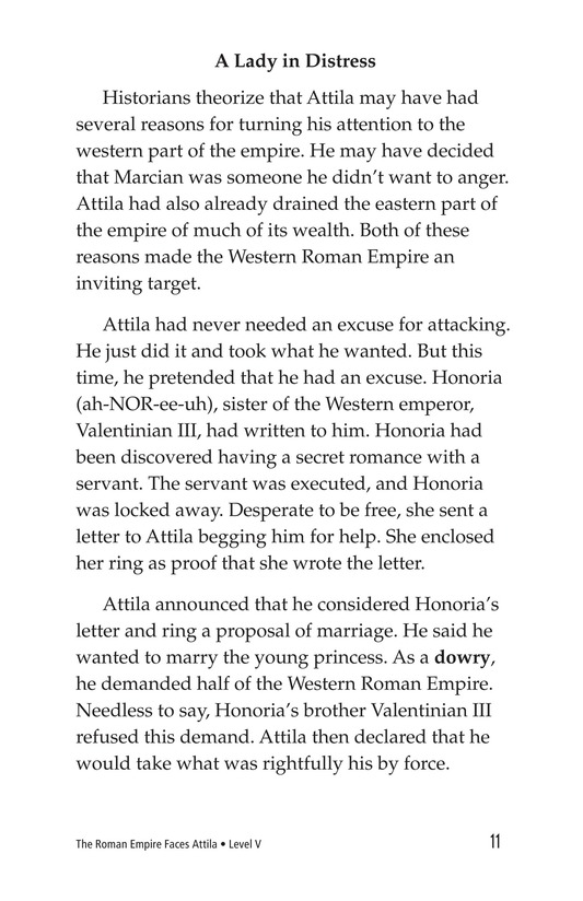 Book Preview For The Roman Empire Faces Attila Page 11