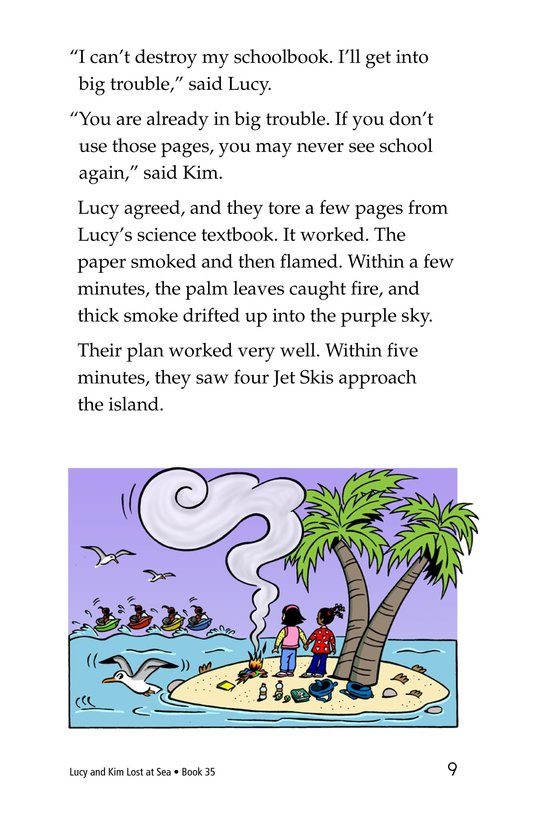 Book Preview For Lucy and Kim Lost at Sea Page 9