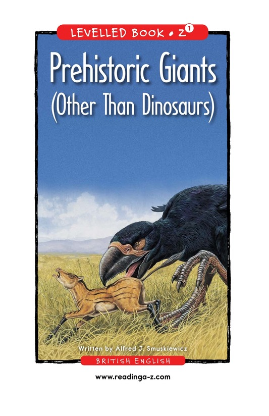 Book Preview For Prehistoric Giants (Other Than Dinosaurs) Page 0