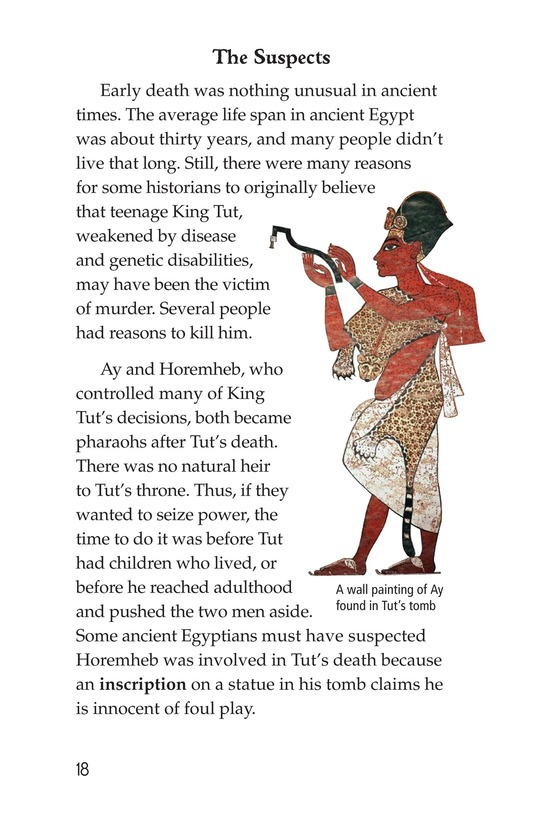 Book Preview For The Mystery of King Tut Page 18