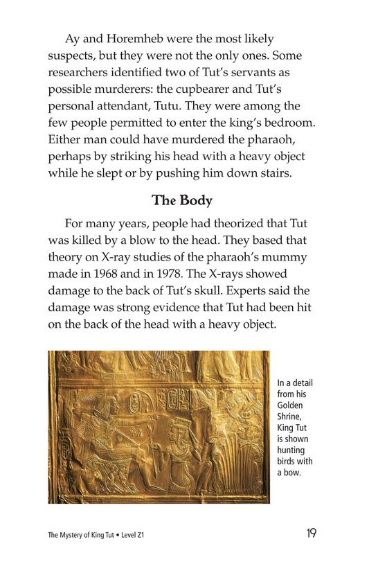 Book Preview For The Mystery of King Tut Page 19