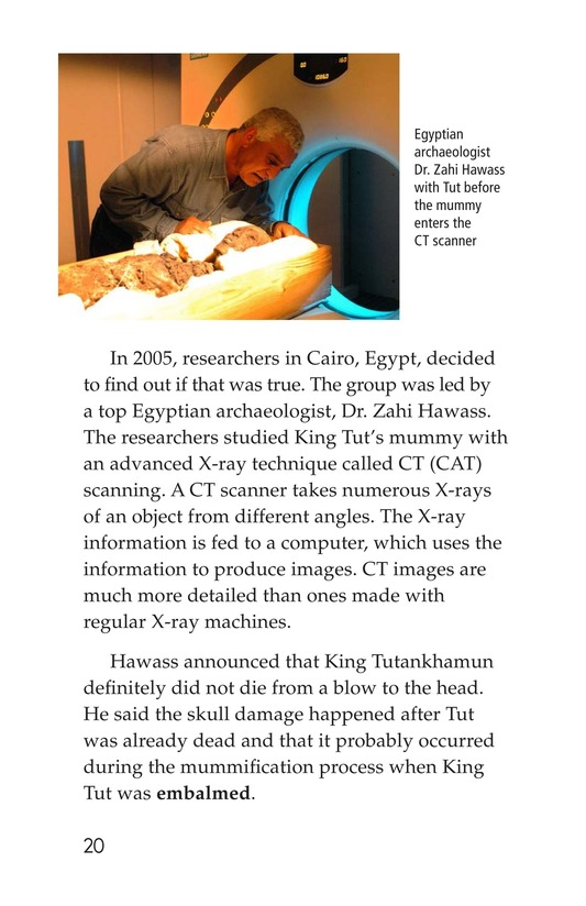 Book Preview For The Mystery of King Tut Page 20