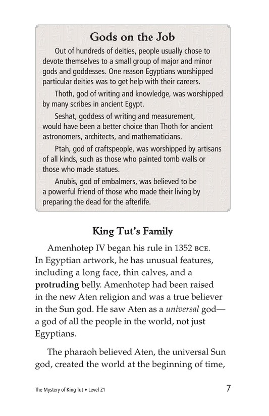 Book Preview For The Mystery of King Tut Page 7