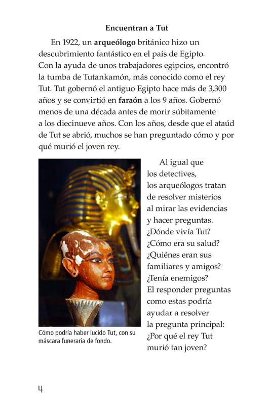 Book Preview For The Mystery of King Tut Page 4