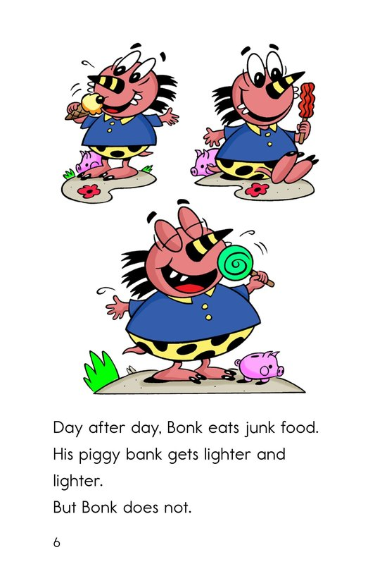 Book Preview For Bonk, the Healthy Monster Page 6