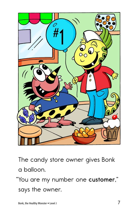 Book Preview For Bonk, the Healthy Monster Page 7