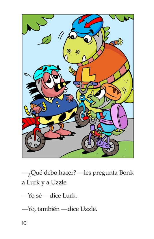 Book Preview For Bonk, the Healthy Monster Page 10