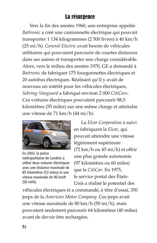 Book Preview For Electric Cars: History and Future Page 14
