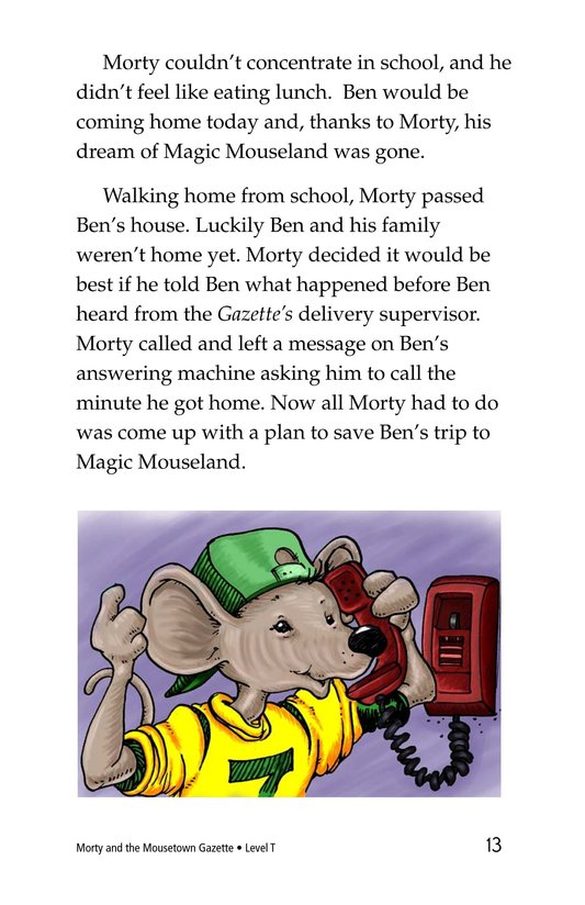 Book Preview For Morty and the Mousetown Gazette Page 13