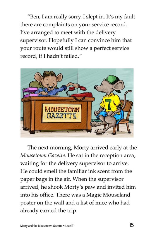 Book Preview For Morty and the Mousetown Gazette Page 15