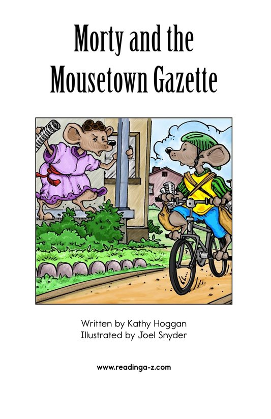 Book Preview For Morty and the Mousetown Gazette Page 2