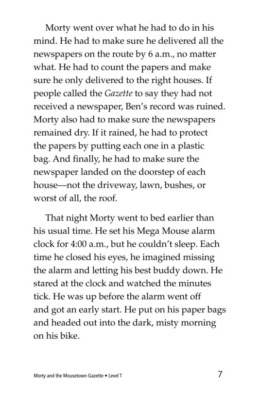 Book Preview For Morty and the Mousetown Gazette Page 7