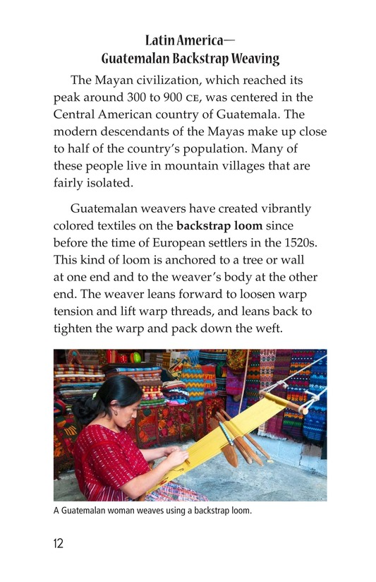 Book Preview For Weaving Around the World Page 12