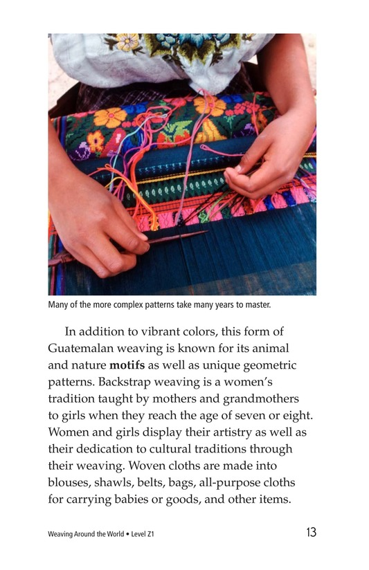 Book Preview For Weaving Around the World Page 13