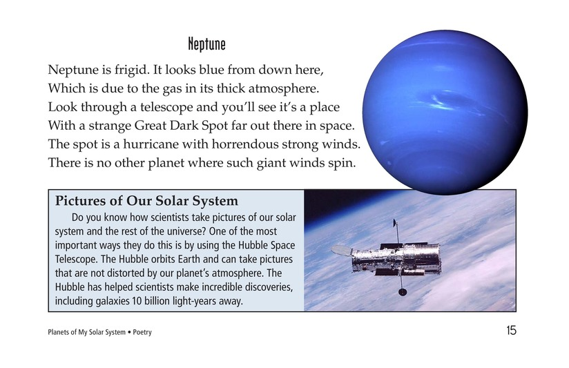 Book Preview For Planets of My Solar System Page 15