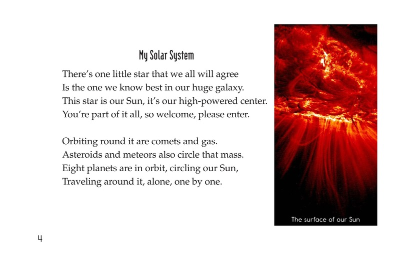 Book Preview For Planets of My Solar System Page 4