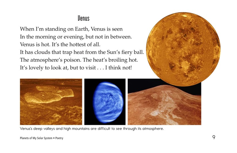 Book Preview For Planets of My Solar System Page 9