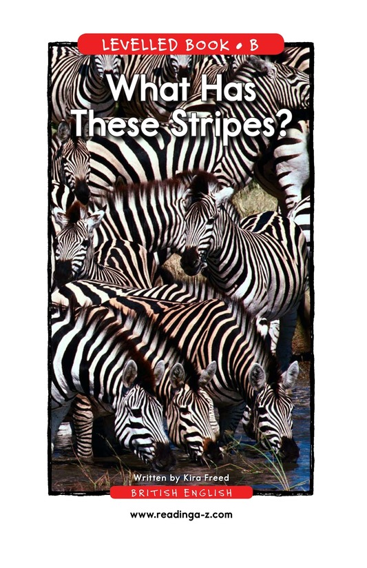 Book Preview For What Has These Stripes? Page 1