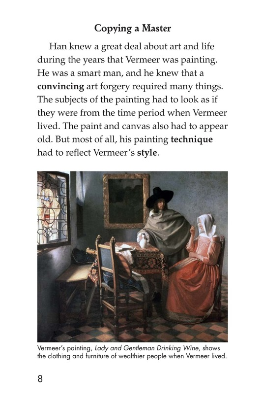 Book Preview For Two Artists: Vermeer's Forger Page 8