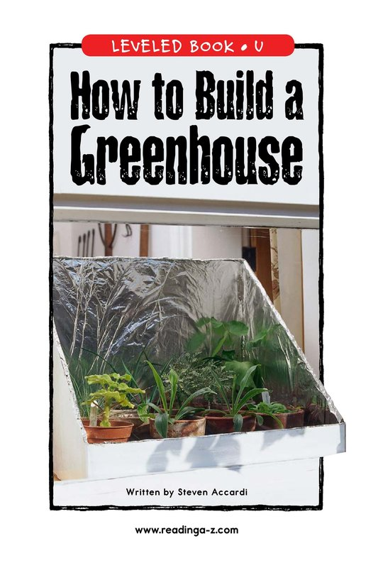 Book Preview For How to Build a Greenhouse Page 1