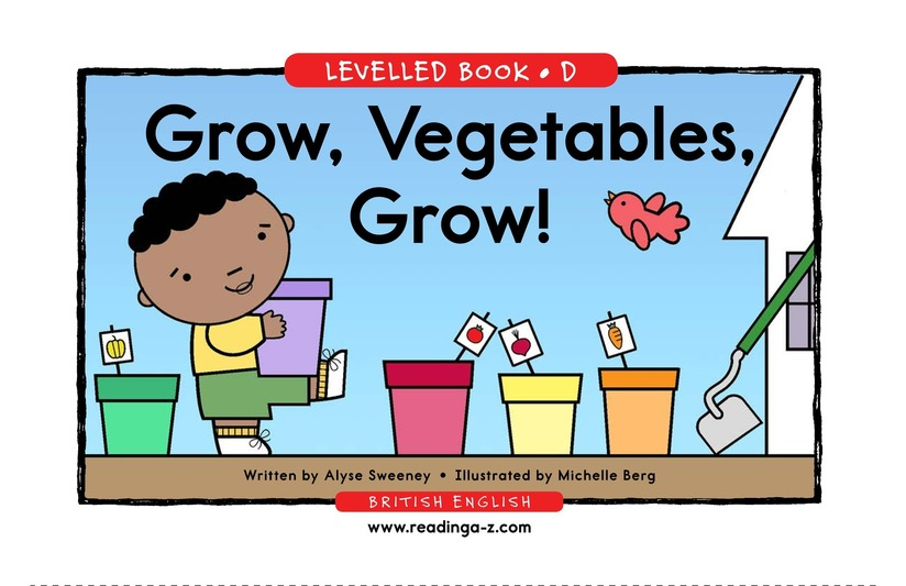 Book Preview For Grow, Vegetables, Grow! Page 1