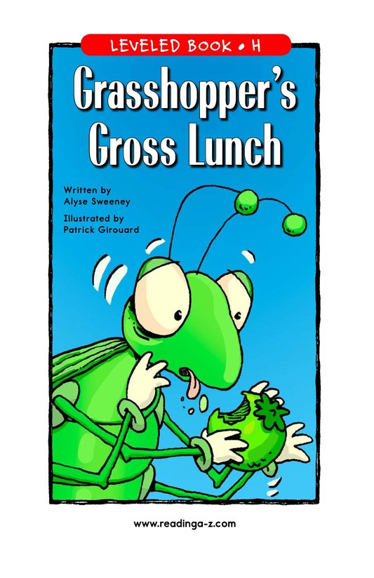 Book Preview For Grasshopper's Gross Lunch Page 1
