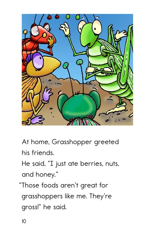 Book Preview For Grasshopper's Gross Lunch Page 10