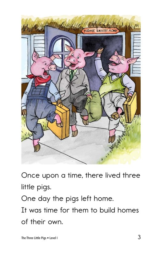 Book Preview For The Three Little Pigs Page 3