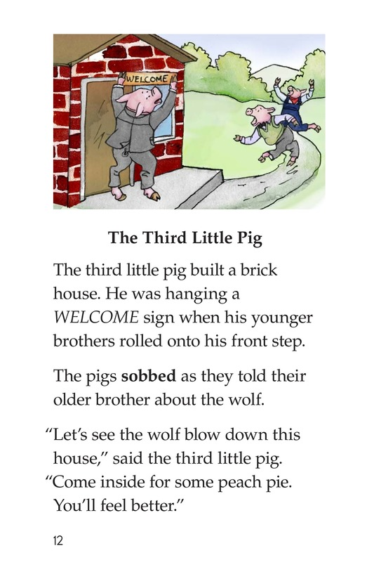 Book Preview For The Three Little Pigs Page 12