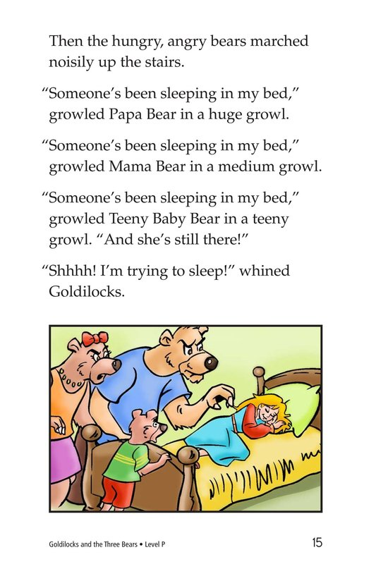 Book Preview For Goldilocks and the Three Bears Page 15