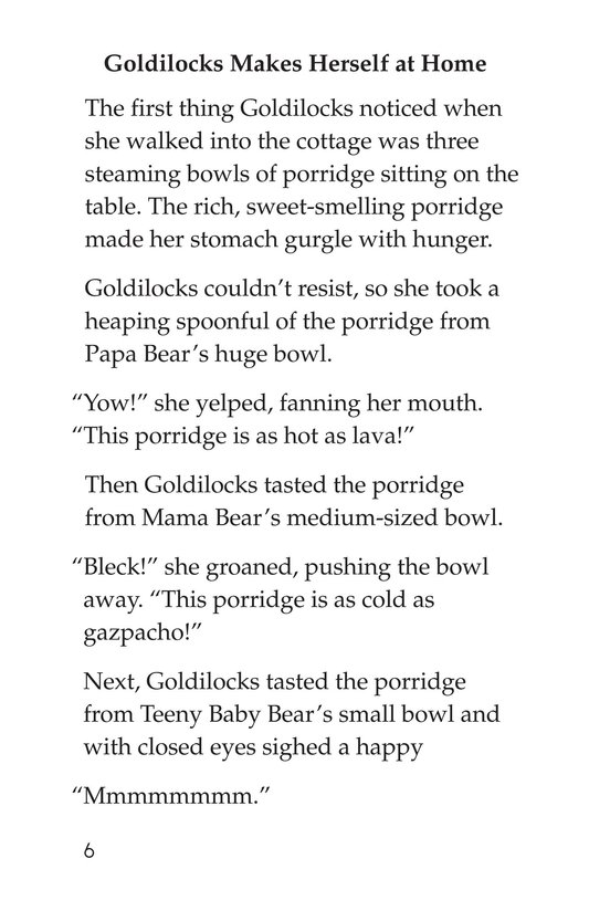Book Preview For Goldilocks and the Three Bears Page 6