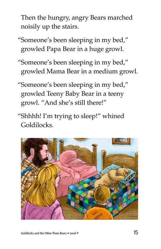Book Preview For Goldilocks and the Other Three Bears Page 15