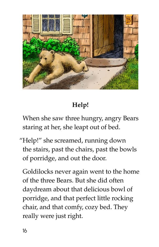 Book Preview For Goldilocks and the Other Three Bears Page 16