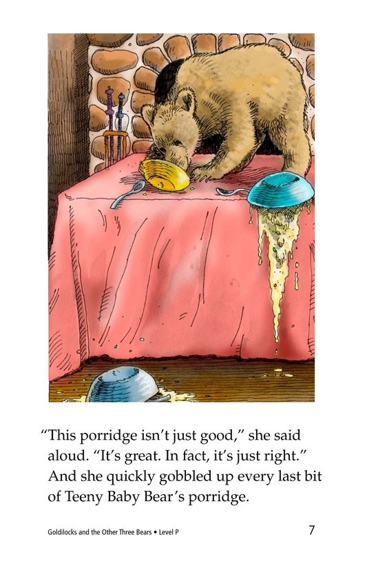 Book Preview For Goldilocks and the Other Three Bears Page 7