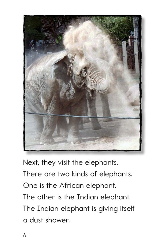 Book Preview For A Visit to the Zoo Page 6