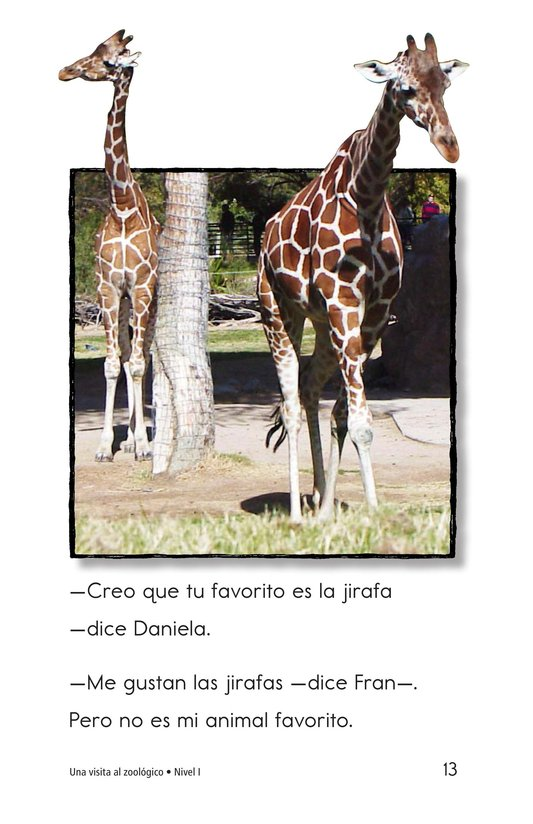 Book Preview For A Visit to the Zoo Page 13