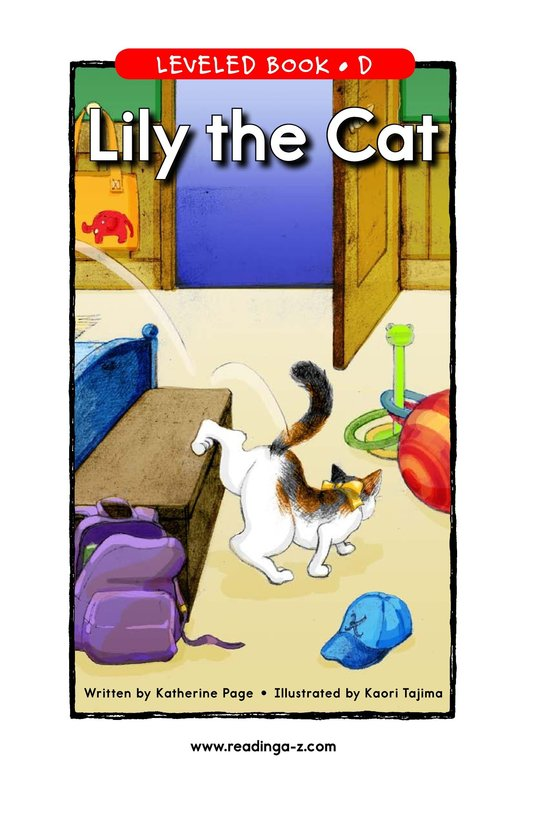 Book Preview For Lily the Cat Page 1