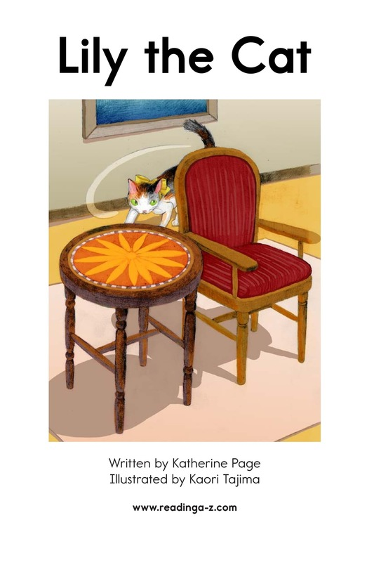 Book Preview For Lily the Cat Page 2