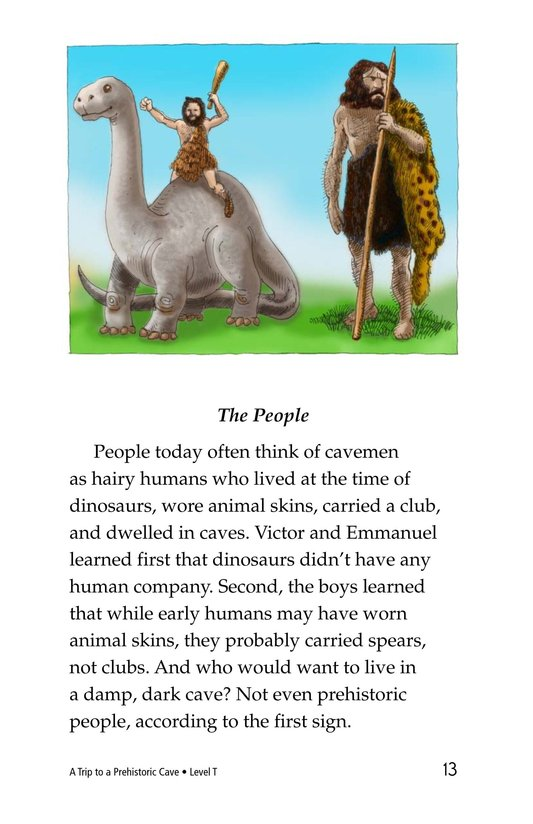 Book Preview For A Trip to a Prehistoric Cave Page 13