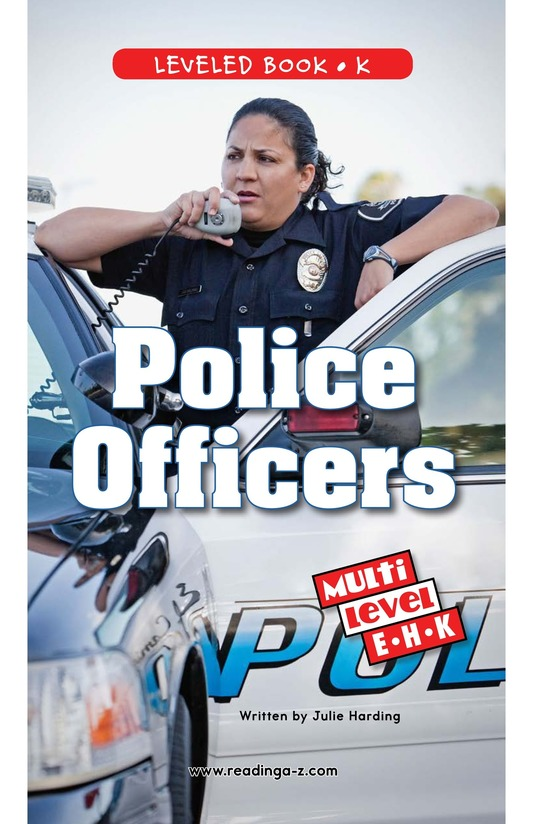 Book Preview For Police Officers Page 0